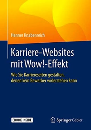Buchcover Karriere-Webstes mit Wow!-Effekt